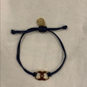 Tory Burch bracelet-BNWOT Tags-blue leather w gold
